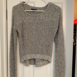 cropped gray sweater